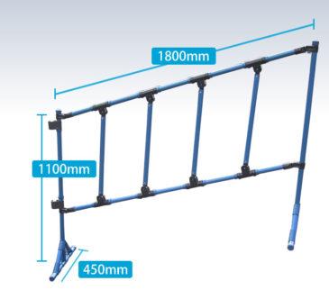 階段など傾斜に合わせて製作できます