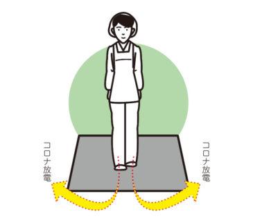 体内に溜まった静電気を足元から放電します