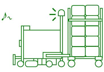 無人搬送車(AGV)の導入で大きな省人・省力化が実現